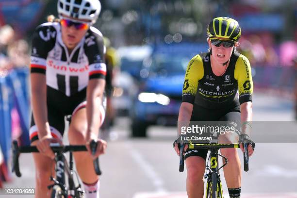Arrival / Jessica Allen of Australia and Team MitcheltonScott / during the 4th Madrid Challenge by la Vuelta Stage 2 a 1003km stage from Madrid to...