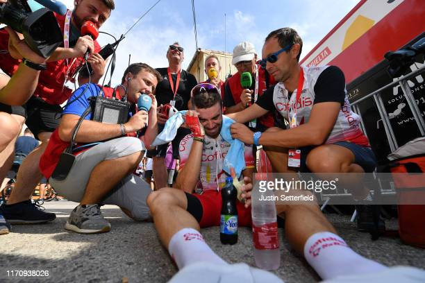 Arrival / Jesus Herrada Lopez of Spain and Team Cofidis Solutions Credits / Celebration / Press / Media / during the 74th Tour of Spain 2019, Stage 6...