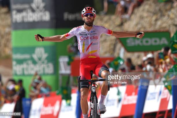 Arrival / Jesus Herrada Lopez of Spain and Team Cofidis Solutions Credits / Celebration / during the 74th Tour of Spain 2019, Stage 6 a 198,9km stage...