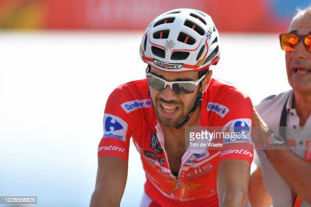 Arrival / Jesus Herrada of Spain and Team Cofidis Red Leader Jersey / during the 73rd Tour of Spain 2018, Stage 13 a 174,8km stage from Candas....