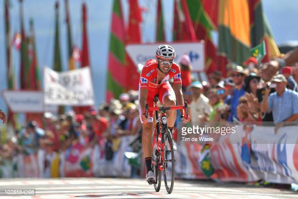 Arrival / Jesus Herrada of Spain and Team Cofidis Red Leaders Jersey / during the 73rd Tour of Spain 2018, Stage 13 a 174,8km stage from Candas....