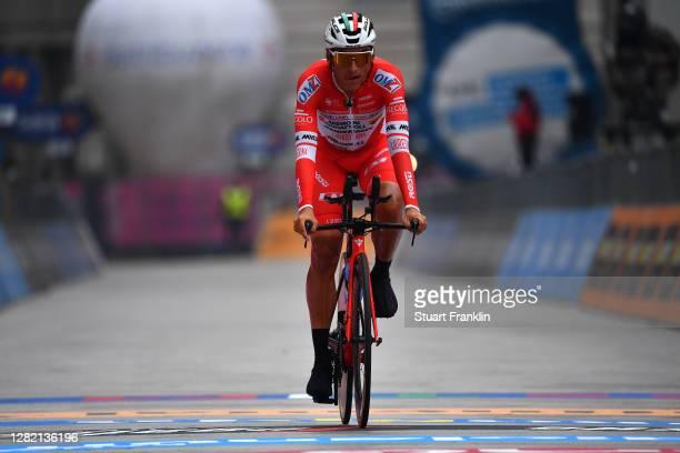Arrival / Jhonatan Restrepo Valencia of Colombia and Team Androni Giocattoli - Sidermec / during the 103rd Giro d'Italia 2020, Stage 21 a 15,7km...