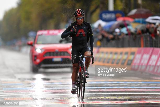 Arrival / Jhonnatan Narvaez Prado of Ecuador and Team INEOS Grenadiers / Celebration / during the 103rd Giro d'Italia 2020 - Stage Twelve a 204km...
