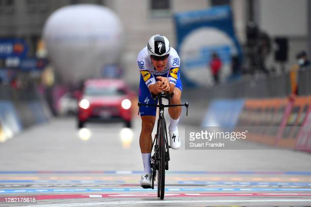 Arrival / Joao Almeida of Portugal and Team Deceuninck - Quick-Step / during the 103rd Giro d'Italia 2020, Stage 21 a 15,7km Individual time trial...
