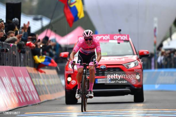 Arrival / Joao Almeida of Portugal and Team Deceuninck - Quick-Step Pink Leader Jersey / Disappointment / during the 103rd Giro d'Italia 2020, Stage...