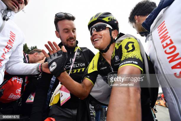 Arrival / Johan Esteban Chaves Rubio of Colombia and Team MitcheltonScott / Celebration / during the 101th Tour of Italy 2018 Stage 6 a 164km stage...