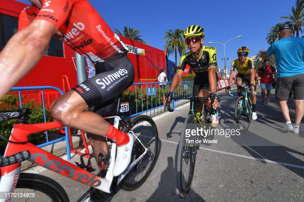 Arrival / Johan Esteban Chaves Rubio of Colombia and Team MitcheltonScott / during the 74th Tour of Spain 2019 Stage 2 a 1996km stage from Benidorm...
