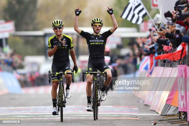 Arrival / Johan Esteban Chaves Rubio of Colombia and Team MitcheltonScott / Simon Yates of Great Britain and Team MitcheltonScott / Celebration /...