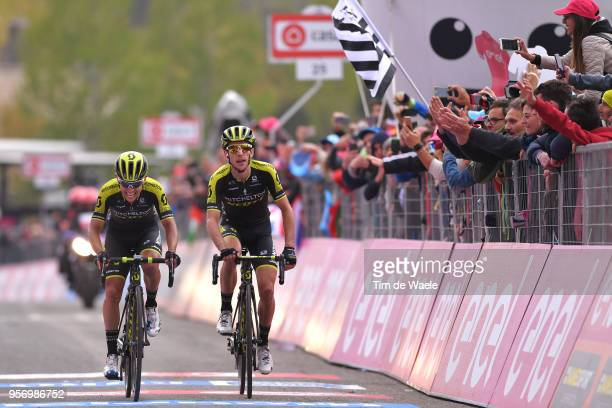 Arrival / Johan Esteban Chaves Rubio of Colombia and Team MitcheltonScott / Simon Yates of Great Britain and Team MitcheltonScott / during the 101th...