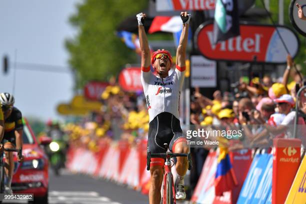 Arrival / John Degenkolb of Germany and Team Trek Segafredo / Celebration / during the 105th Tour de France 2018 Stage 9 a 1565 stage from Arras...