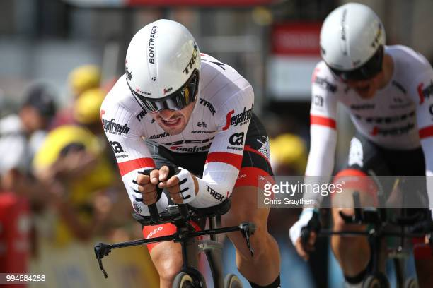 Arrival / John Degenkolb of Germany and Team Trek Segafredo / during the 105th Tour de France 2018, Stage 3 a 35,5km Team time trial stage / TTT /...