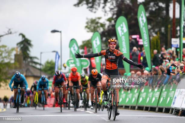 Arrival / Jolien D'Hoore of Belgium and Team Boels Dolmans / Celebration / Amy Pieters of The Netherlands and Team Boels Dolmans / Lisa Brennauer of...