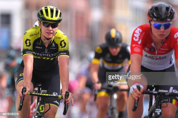 Arrival / Jolien DHoore of Belgium and Team Mitchelton-Scott / Disappointment / during the 119th Belgian Road Championship 2018, Elite Women a...
