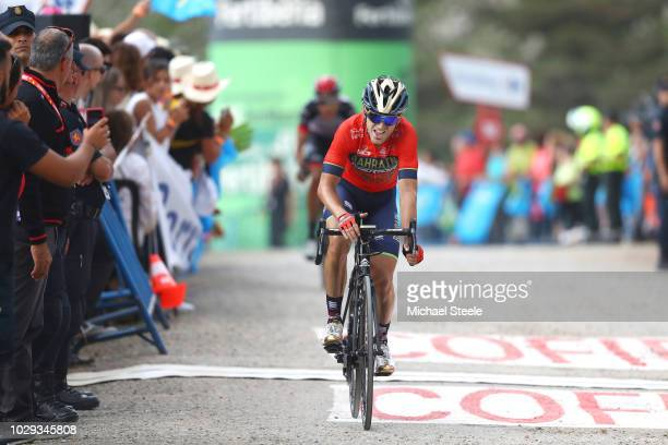 Arrival / Jon Izaguirre Insausti of Spain and Bahrain Merida Pro Cycling Team / during the 73rd Tour of Spain 2018 Stage 14 a 1714km stage from...