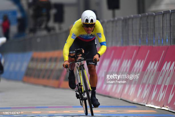 Arrival / Jonathan Caicedo Cepeda of Ecuador and Team EF Pro Cycling / during the 103rd Giro d'Italia 2020, Stage 21 a 15,7km Individual time trial...