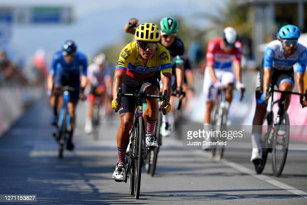 Arrival / Jonathan Caicedo of Ecuador and Team EF Pro Cycling / during the 55th Tirreno-Adriatico 2020, Stage 1 a 133km stage from Lido di Camaiore...