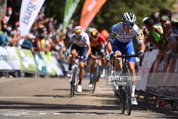 Arrival / João Almeida of Portugal and Team Deceuninck - Quick-Step / during the 42nd Vuelta a Burgos 2020, Stage 1 a 157km stage from Burgos to...