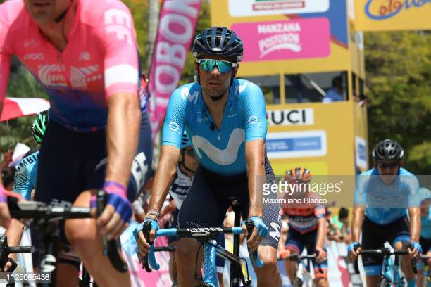 Arrival / Jorge Arcas of Spain and Movistar Team / during the 2nd Tour of Colombia 2019 Stage 4 a 1444km race from Medellin to Medellin Atanasio...