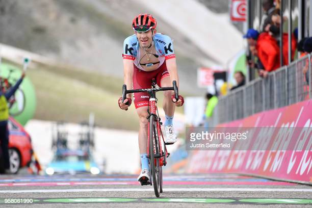 ITALIA CAMPO IMPERATORE ITALY MAY 13 Arrival / Jose Goncalves of Portugal and Team KatushaAlpecin / during the 101th Tour of Italy 2018 Stage 9 a...