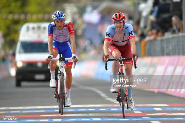 Arrival / Jose Goncalves of Portugal and Team KatushaAlpecin / Georg Preidler of Austria and Team GroupamaFDJ / during the 101st Tour of Italy 2018...