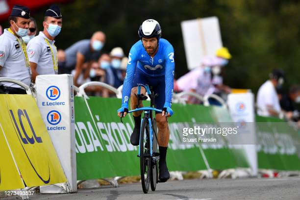 Arrival / Jose Joaquin Rojas Gil of Spain and Movistar Team / during the 107th Tour de France 2020, Stage 20 a 36,2km Individual Time Trial stage...
