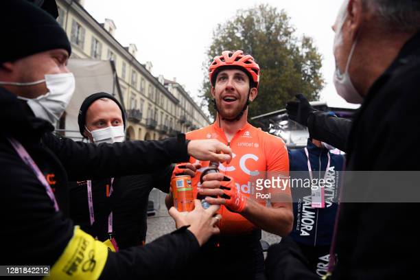 Arrival / Josef Cerny of Czech Republic and CCC Team / Celebration / Soigneur / during the 103rd Giro d'Italia 2020, Stage 19 a 124,5km stage from...