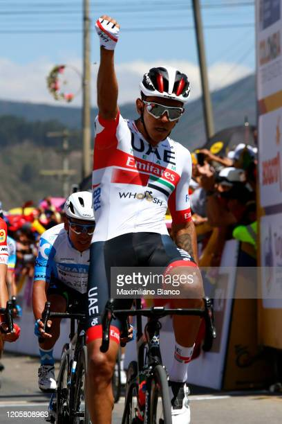 Arrival / Juan Sebastian Molano Benavides of Colombia and UAE Team Emirates / Celebration / during the 3rd Tour of Colombia 2020, Stage 2 a 152,4km...