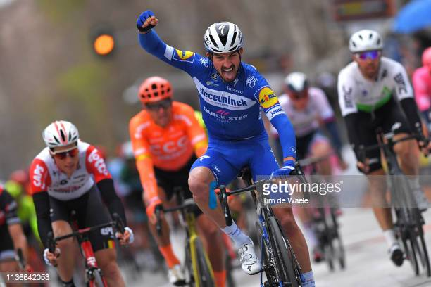 Arrival / Julian Alaphilippe of France and Deceuninck - Quick-Step / Celebration / during the 54th Tirreno-Adriatico 2019, Stage 6 a 195km stage from...