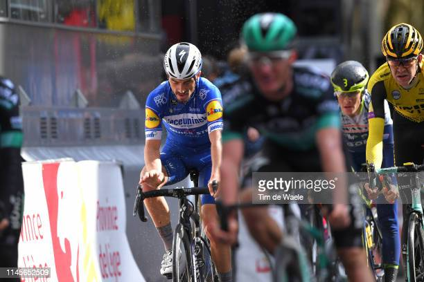 Arrival / Julian Alaphilippe of France and Deceuninck-QuickStep / Disappointment / during the 105th Liege - Bastogne - Liege 2019 a 256km race from...