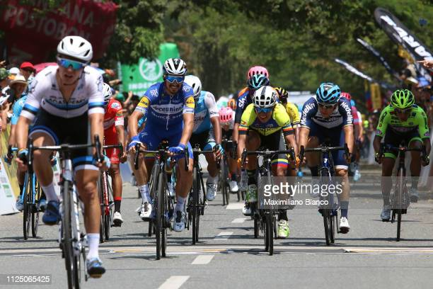 Arrival / Julian Alaphilippe of France and DeceuninckQuickstep Team / during the 2nd Tour of Colombia 2019 Stage 4 a 1444km race from Medellin to...