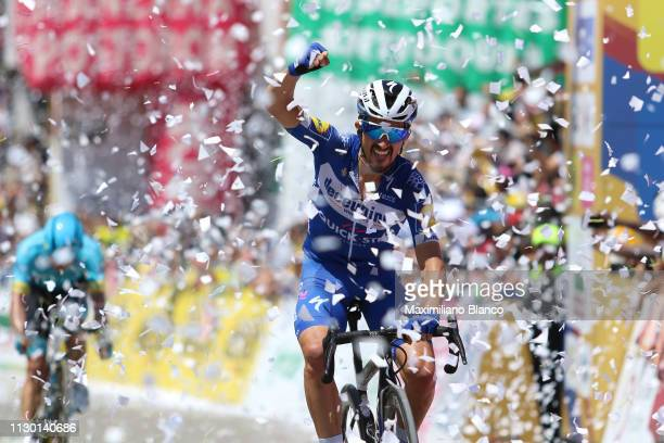 Arrival / Julian Alaphilippe of France and DeceuninckQuickstep Team / Celebration / during the 2nd Tour of Colombia 2019 Stage 5 a 1772km stage from...