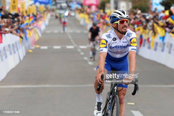 Arrival / Julian Alaphilippe of France and Team Deceuninck - Quick Step / during the 3rd Tour of Colombia 2020, Stage 5 a 180,5km stage from Paipa to...