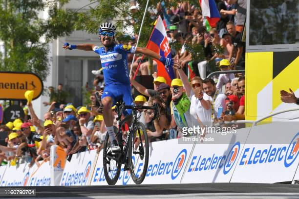 Arrival / Julian Alaphilippe of France and Team Deceuninck - Quick-Step / Celebration / during the 106th Tour de France 2019, Stage 3 a 215km stage...