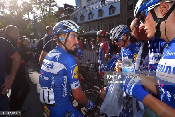 Arrival / Julian Alaphilippe of France and Team Deceuninck QuickStep / Enric Mas Nicolau of Spain and Team Deceuninck QuickStep / Mikkel Honore of...