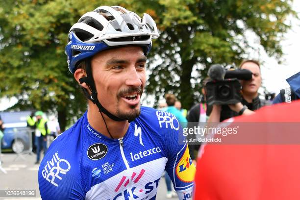 Arrival / Julian Alaphilippe of France and Team QuickStep Floors / Bob Jungels of Luxembourg and Team QuickStep Floors / Celebration / during the...