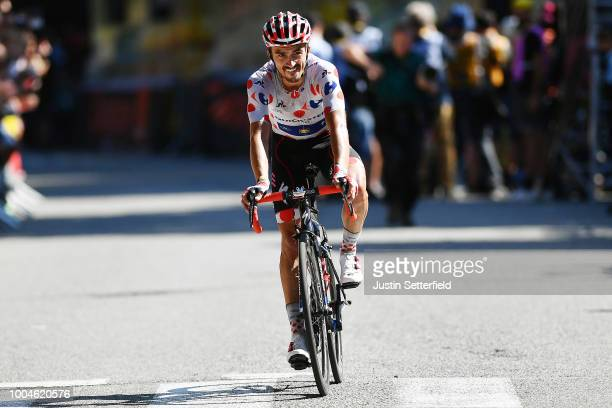 Arrival / Julian Alaphilippe of France and Team Quick-Step Floors /Polka dot mountain jersey / Celebration / during the 105th Tour de France 2018,...