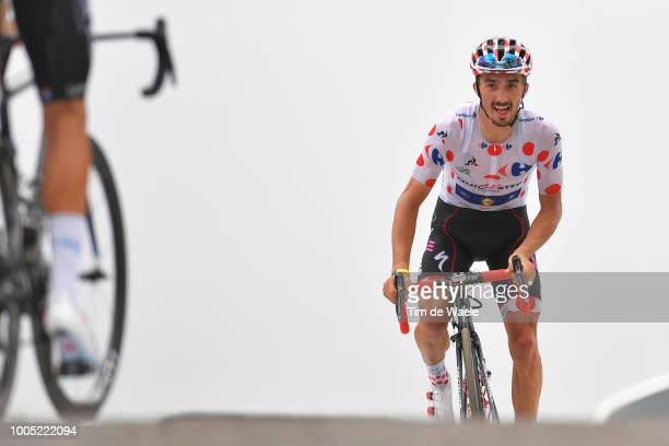 Arrival / Julian Alaphilippe of France and Team QuickStep Floors Polka Dot Mountain Jersey / Celebration / during the 105th Tour de France 2018 Stage...