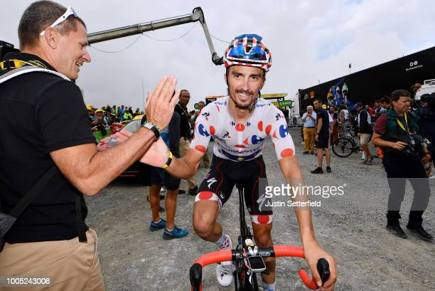 Arrival / Julian Alaphilippe of France and Team QuickStep Floors Polka Dot Mountain Jersey / during the 105th Tour de France 2018 Stage 17 a 67km...
