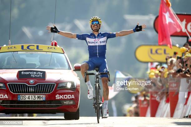 Arrival / Julian Alaphilippe of France and Team Quick-Step Floors / Celebration / during the 105th Tour de France 2018 / Stage 10 a 158,5km stage...