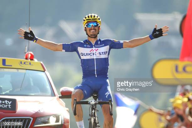 Arrival / Julian Alaphilippe of France and Team QuickStep Floors / Celebration / during the 105th Tour de France 2018 / Stage 10 a 1585km stage from...