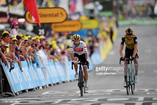 Arrival / Julien Bernard of France and Team Trek-Segafredo / Laurens De Plus of Belgium and Team Jumbo-Visma / during the 106th Tour de France 2019,...