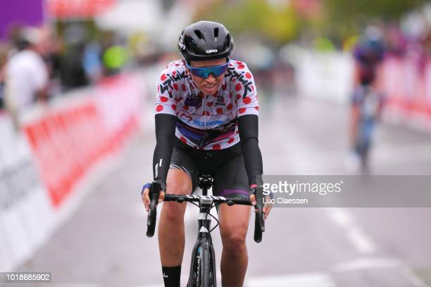 Arrival / Katarzyna Niewiadoma of Poland and Team Canyon SRAM Racing Polka Dot Mountain Jersey / during the 4th Ladies Tour of Norway 2018 Stage 2 a...