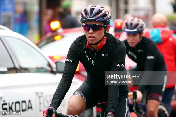 Arrival / Katarzyna Niewiadoma of Poland and Team Canyon SRAM Racing / during the 6th OVO Energy Women's Tour 2019 Stage 1 a 1576 km stage from...