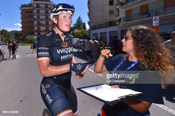 Arrival / Kirsten Wild of The Netherlands and Team Wiggle High5 / during the 29th Tour of Italy 2018 - Women, Stage 2 a 120,3km stage from Ovada to...