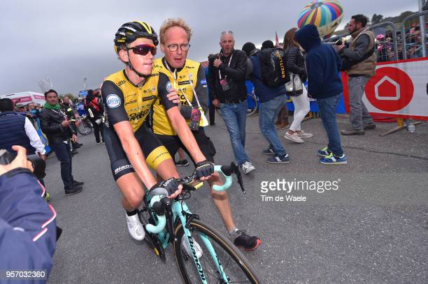Arrival / Koen Bouwman of The Netherlands and Team LottoNL-Jumbo / during the 101th Tour of Italy 2018, Stage 6 a 164km stage from Caltanissetta to...