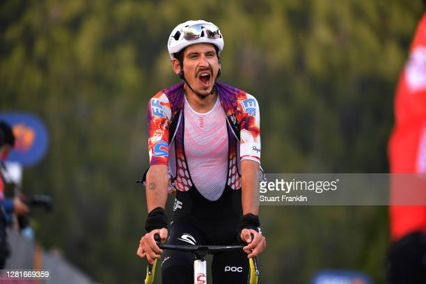 Arrival / Lachlan Morton of Australia and Team EF Pro Cycling / during the 103rd Giro d'Italia 2020, Stage 18 a 207km stage from Pinzolo to Laghi di...