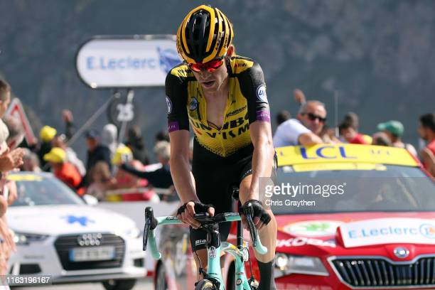 Arrival / Laurens De Plus of Belgium and Team Jumbo-Visma / during the 106th Tour de France 2019, Stage 14 a 117km stage from Tarbes to Tourmalet...