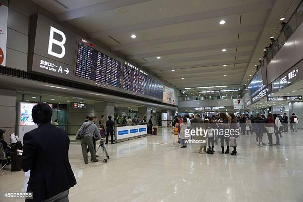 arrival lobby in narita international airport - narita international airport stock photos and pictures