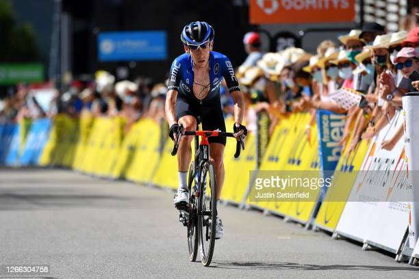 Arrival / Louis Meintjes of South Africa and NTT Pro Cycling Team / during the 72nd Criterium du Dauphine 2020, Stage 3 a 157km stage from Corenc to...
