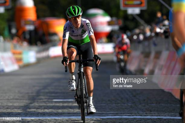Arrival / Louis Meintjes of South Africa and Team Dimension Data / during the 103rd Giro del Piemonte 2019 a 183km race from Agliè to Santuario di...